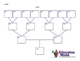 Four Generation Family Tree Template Education World