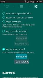you can also opt to play a pre alarm sound and you can change the actual alarm tone used by glimmer if you tap the embedded on next to play an alarm