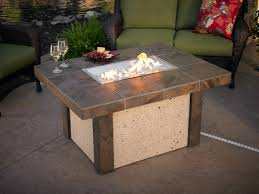 Inspiration Ideas Patio Gas Fire Pit Table And Large Chairs Bronze