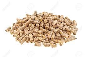 Pelleted Compound Feed Isolated On White Background, Wheatfeed ...