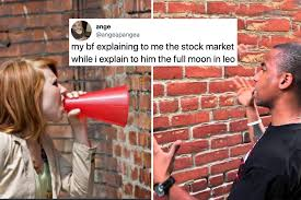 Interesting and informative memes about stock market, tranding, investing. The Stock Market Bf Astrology Gf Meme Lovingly Drags Finance Bros