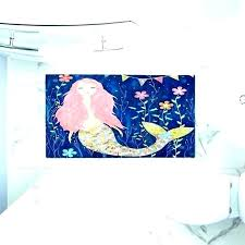 mermaid bathroom rugs rug s pink artistic decorative bath little large