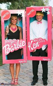 Barbie And Ken Funny Couples Costume   DIY Couples Halloween Costumes: Why  Buy When You