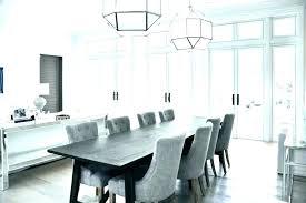 beach house dining room table chandelier sea glass use roo