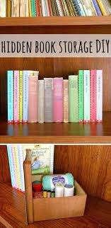 31. use an old book cover to create a hidden book storage
