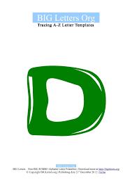bubble letter template d