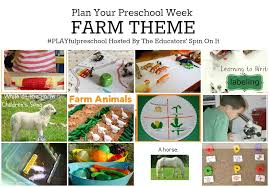 farm theme preschool activities for math reading science sensory and more