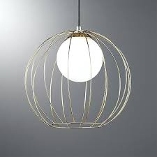 cage brass globe pendant light reviews cb2 cage pendant light