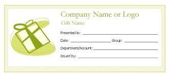 editable gift certificate template word sle