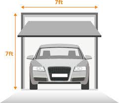 verage single garage door with measurements