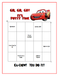 8 Best Photos Of Printable Cars Potty Training Chart