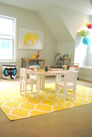 10 Elegant IKEA Rug Designs : Inspiring IKEA Rug Designs With Yellow Kids  Playroom