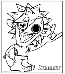 Video Games Coloring Pages Printable Monsters Coloring Pages For