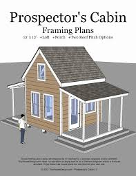 tiny house plans with material list new prospector s cabin 12 x12 tiny house