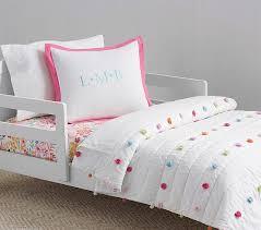 bright pom pom toddler bedding
