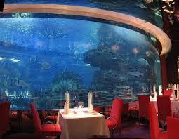 underwater hotel room at night. Al Mahara In Dubai, UAE Underwater Hotel Room At Night