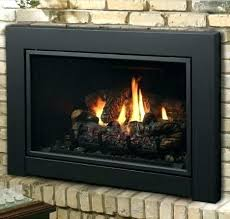 natural gas fireplace inserts insert direct vent ventless with logs