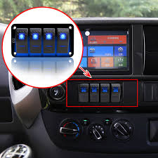 Why Do Led Lights Trip Breaker Us 13 96 20 Off 12v 24v 4 Gang Blue 2 Led Light Rocker Switch Panel Circuit Breaker Boat Marine Waterproof In Car Switches Relays From Automobiles