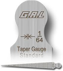taper gauge kit. cat # sub 28a taper gauge - markings on both sides kit n