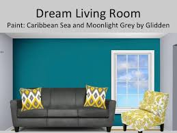 Would Love This In My Living Room. Light Grey Walls With A Deep Teal/