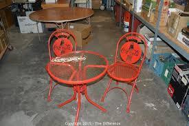 new coca cola bistro set table 2 chairs