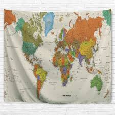 colorful world map 3d printing home wall hanging tapestry for decoration ab 14 76 25 09