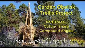 garden obelisk trellis. Garden Obelisk Trellis Part 3: Cutting SHARP Compound Angles