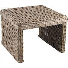 Table d'appoint carrée en poelet gris
