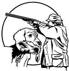 Small Picture Hunting with Trained Dog Coloring Pages Hunting with Trained Dog