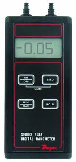 digital manometer. dwyer series 478a differential pressure digital manometer, -4.00 to 4.00\ manometer o