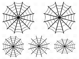 Spider Webs Simple Silhouettes Vector Illustration Of Silhouettes