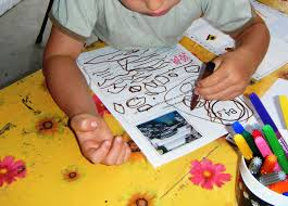 Image result for writing  with children