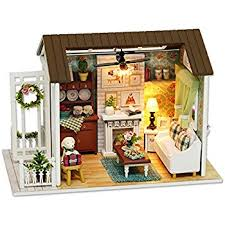 wholesale wooden doll dinning house furniture. unique doll cuteroom dollhouse miniature diy dolls house kit room with furniture  handicraft xmas gift happy time to wholesale wooden doll dinning y
