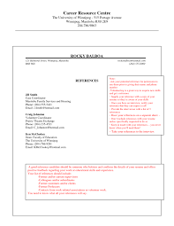 Resume Reference List Template Sample References Page For