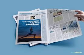 Newspaper Psd Template Download 25 Newspaper Ad Mockup Templates Psd Creativebonito Com
