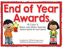 Time 4 Kindergarten End Of The Year Awards