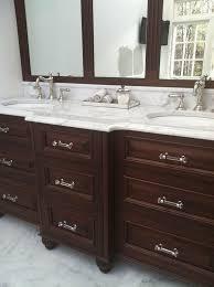 traditional marble bathrooms. Boston Carrera Marble Bathrooms Bathroom Traditional With His And Her Vanities Dark Wood Cabinets R