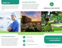 Medical Brochure Template Simple 44 Free Pamphlet Templates Examples Lucidpress
