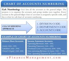 Chart Of Accounts Chart Of Accounts Numbering Meaning Approach Example