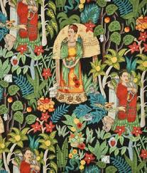 42 best Must have fabrics!! images on Pinterest | Custom fabric ... & Alexander Henry Fridas Garden Black Fabric | onlinefabricstore.net Adamdwight.com