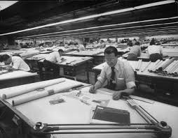 the dwindling power of a college degree the new york times a drafter at work 1952 credit j r eyerman time life pictures getty images