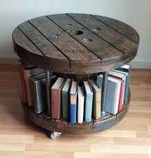 Keep your favorite books close at hand with a bookshelf built right into the end! Unique Coffee Table Bookshelf Bookshelves Diy Coffee Table Bookshelf Spool Furniture