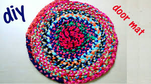 How to make a doormat at home with waste cloth DIY - YouTube