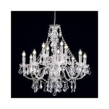 clarence 308 8 4cl 12 light pendant light in clear acrylic