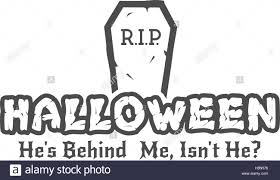 Halloween Rip Label Template With Tombstone And Typography Elements