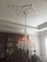 diamond ceiling medallion chandelier