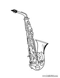 Saxophone Coloring Page Kleurplaten Muxiek Muziek