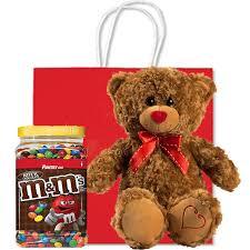 bear and chocolate m m s gift bag
