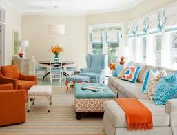 Best of Orange Living Room Furniture and Blue And Orange Sofa In