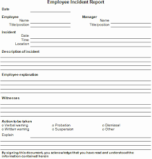 50 Fresh Photos Incident Report Form Template Free Report Inspiration